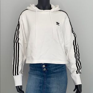 Adidas women brand new cropped hoodie size small